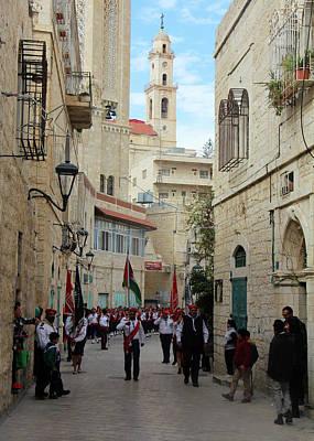 Photograph - Bethlehem Star Street by Munir Alawi