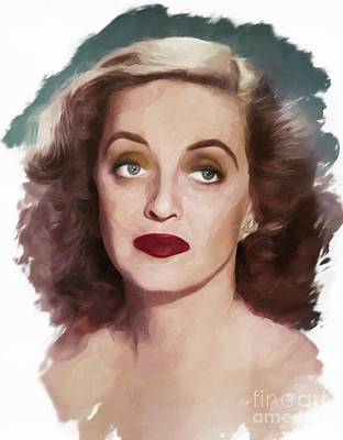 Musicians Royalty Free Images - Bette Davis, Actress Royalty-Free Image by Mary Bassett