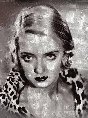 Bette Davis Painting - Bette Davis By Mary Bassett by Mary Bassett