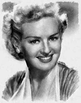 Grable Painting - Betty Grable Hollywood Icon By John Springfield by John Springfield
