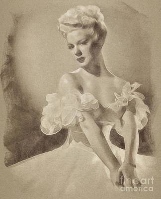 Musicians Drawings Rights Managed Images - Betty Hutton, Actress Royalty-Free Image by Esoterica Art Agency