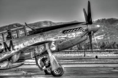 Photograph - Betty Jane P51d Mustang At Livermomre by John King