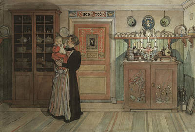 Painting - Between Christmas And New Year. From A Home by Carl Larsson