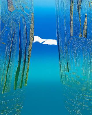 Between Two Mountains. Art Print by Jarle Rosseland