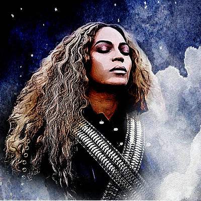 Music Artist Digital Art - Beyonce  by The DigArtisT