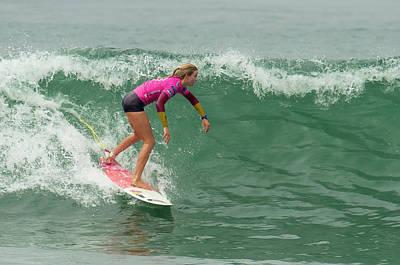 Photograph - Bianca Buitendag Surfing by Waterdancer