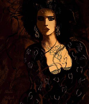 Evening Dress Mixed Media - Bianca by Natalie Holland