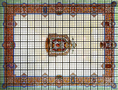 Historic Architecture Photograph - Bibatauin Palace Roof In Granada Spain by