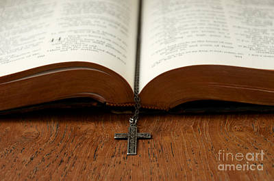 Photograph - Bible And Cross by Birgit Tyrrell