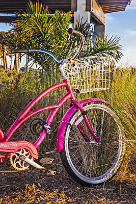 Photograph - Bicycle At The Beach II by Debra and Dave Vanderlaan