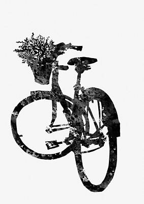 Bicycle-black Art Print