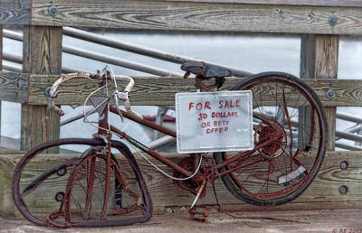 Photograph - Bicycle For Sale by Richard Bean