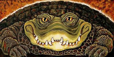 Louisiana Alligator Painting - Big Al by Sherry Dole