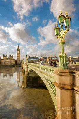 Painterly Photograph - Big Ben London by Adrian Evans