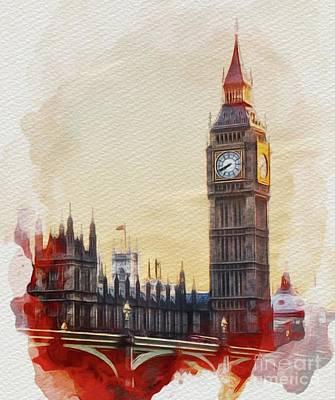 Parliament Wall Art - Painting - Big Ben, London by John Springfield