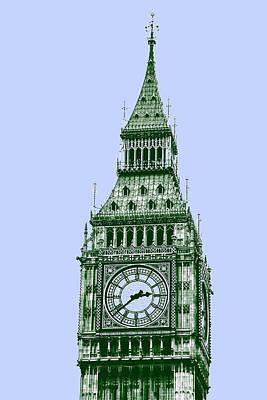 Surrealism Painting - Big Ben Tower, London  by Asar Studios