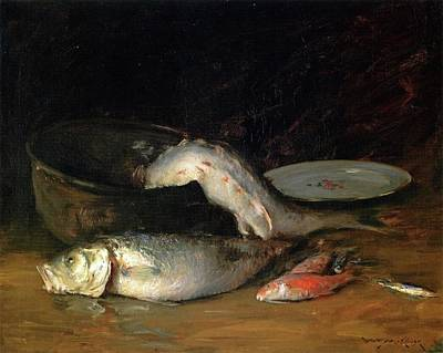 Painting - Big Copper Kettle And Fish by William Merritt Chase