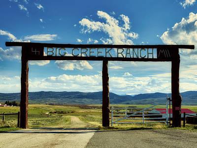 Photograph - Big Creek Ranch by L O C
