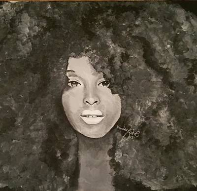 Woman Painting - Big Hair Don't Care by Vanessa Faith
