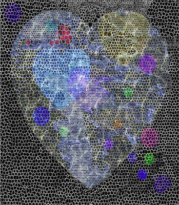 Big Heart Art Print by Mimo Krouzian
