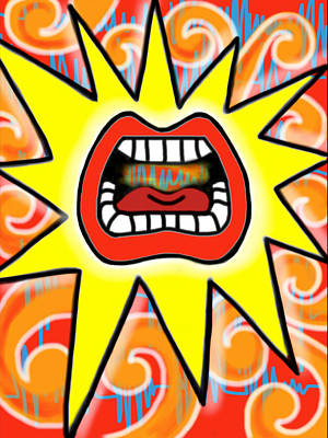 Pop Painting - Big Mouth by Susan Marino