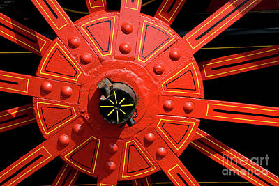 Photograph - Big Red Wheel - 138 by Paul W Faust - Impressions of Light