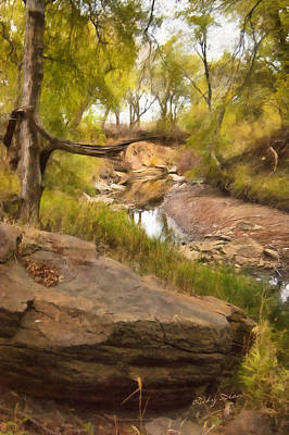 Painting - Big Stone Creek by Ricky Dean