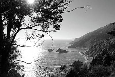 Dslr Photograph - Big Sur Black And White by Sierra Vance