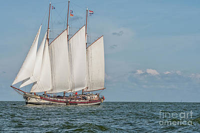 Photograph - Big Traditional Dutch Sailing Boat by Patricia Hofmeester