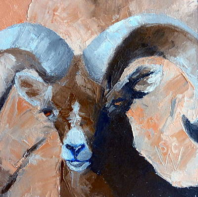 Painting - Bighorn Sheep by Susan Woodward