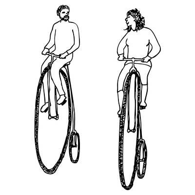 Bike Buddies Art Print by Karl Addison