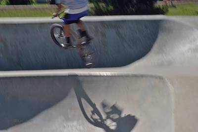 Photograph - Biking The Skateboard Park #6 by Kae Cheatham