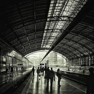 Train Photograph - Bilbao Train Station #train #station by Rafa Rivas