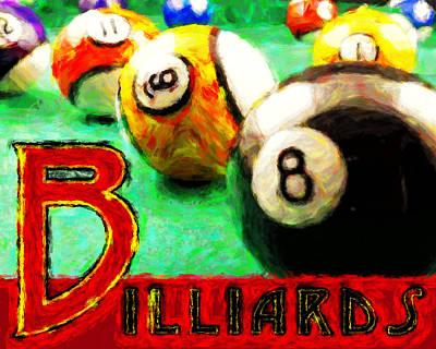 Billiards Art Print by David G Paul