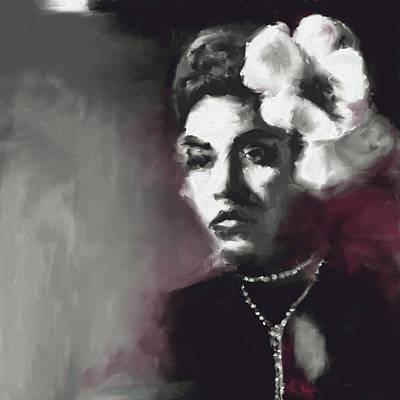 Billie Holiday Painting - Billie Holiday 549 1 by Mawra Tahreem