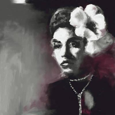 Billie Holiday 549 1 Art Print by Mawra Tahreem