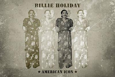 Songstress Digital Art - Billie Holiday by David Richardson