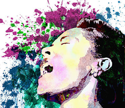 Rhythm And Blues Digital Art - Billie Holiday by Elena Kosvincheva