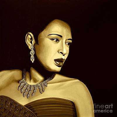 Ella Mixed Media - Billie Holiday by Meijering Manupix