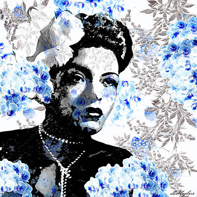 Painting - Billie Holiday by Saundra Myles