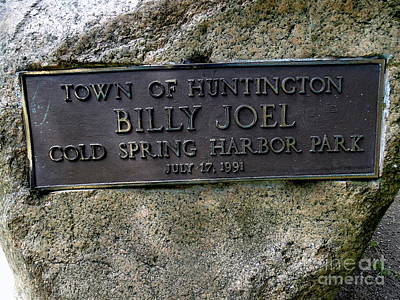 Photograph - Billy Joel Cold Spring Harbor Park by Ed Weidman