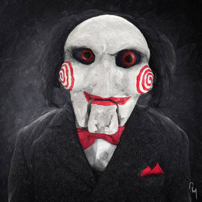 Character Portraits Painting - Billy The Puppet by Taylan Apukovska