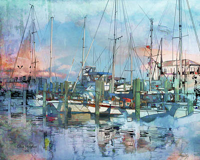 Digital Art - Biloxi Harbor by Don Schiffner