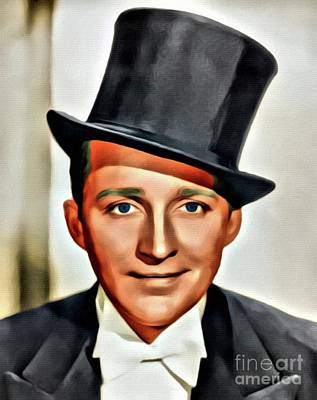 Business Digital Art - Bing Crosby, Hollywood Legend by Mary Bassett
