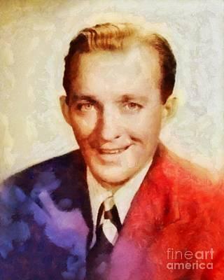 Crosby Painting - Bing Crosby, Vintage Hollywood Legend by Sarah Kirk