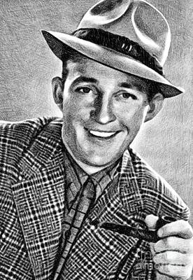 Musicians Drawings Rights Managed Images - Bing Crosby, Vintage Legend by JS Royalty-Free Image by John Springfield
