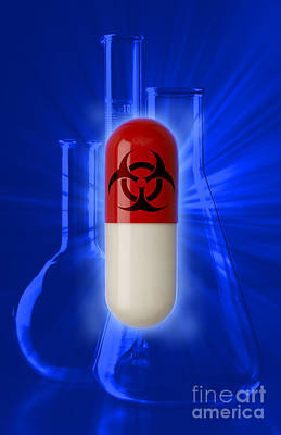 Biohazard Symbol On Capsule Art Print