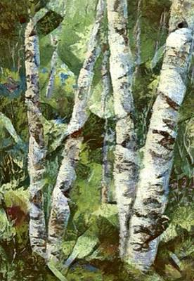 Digital Art - Birch Forest by Megan Walsh
