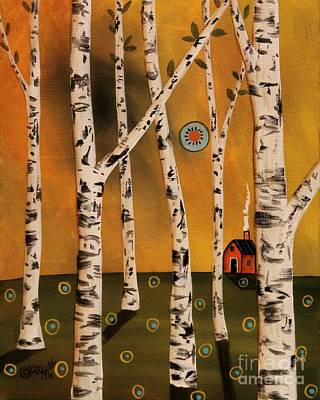 Abstract Pattern Painting - Birch Grove 1 by Karla Gerard