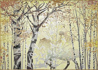Digital Art - Birch Wood by Harald Dastis